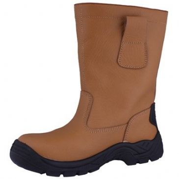 RIGGER SAFETY BOOT TAN LEATHER SIZE 5